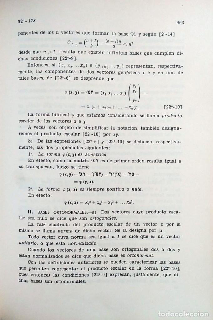 Libros de segunda mano de Ciencias: ELEMENTOS DE MATEMÁTICAS / POR JOSÉ MARTÍNEZ SALAS. VALLADOLID, 1966 (GRÁF. ANDRÉS MARTÍN). - Foto 4 - 132171138