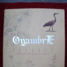 Libros de segunda mano: OYAMBRE ESPACIO NATURAL. CANTABRIA. PARQUE NATURAL. ECOLOGISMO. Lote 143646250