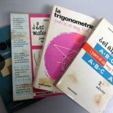 Libros de segunda mano de Ciencias: LOTE 4 LIBROS ÁLGEBRA, TRIGONOMETRÍA, MATEMÁTICAS, GEOMETRIA.. Lote 132670266