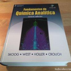 Libros de segunda mano de Ciencias: FUNDAMENTOS DE QUÍMICA ANALÍTICA 8.ª ED. PARANINFO, 2008. SKOOG; WEST; HOLLER; CROUCH. CON CD-ROM. Lote 132977154