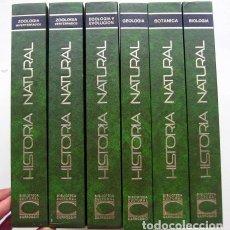 Libros de segunda mano: BIBLIOTECA CULTURAL CARROGGIO. HISTORIA NATURAL. 6 TOMOS. ENCICLOPEDIA DE ALTO NIVEL COMPLETA. Lote 133057566