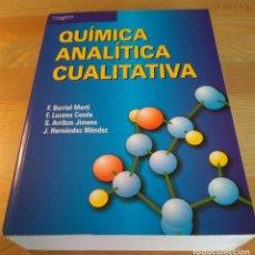 Libros de segunda mano de Ciencias: QUÍMICA ANALÍTICA CUALITATIVA 18.ª ED. BURRIEL MARTÍ, LUCENA CONDE ET ALII. PARANINFO, 2002. Lote 133081066