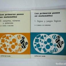 Libros de segunda mano de Ciencias: LOS PRIMEROS PASOS EN MATEMATICA. 1. LOGICA Y JUEGOS LOGICOS. 2 CONJUNTOS, NUMEROS, POTENCIAS TDK352. Lote 133088882