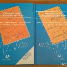 Libros de segunda mano de Ciencias: ELEMENTOS DE ANÁLISIS MATEMÁTICO 2.ª ED. + PROBLEMAS DE ANÁLISIS MATEMÁTICO. MARÍA E. BALLVÉ.... Lote 133110454