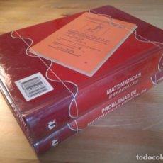 Libros de segunda mano de Ciencias: MATEMÁTICAS ESPECIALES + PROBLEMAS DE MATEMÁTICAS ESPECIALES. SANZ Y TORRES, 1998. Lote 133120774