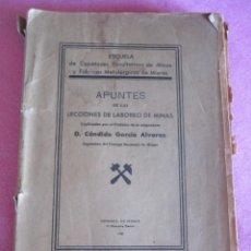 Libros de segunda mano: LABOREO DE MINAS- CANDIDO GARCIA ALVAREZ- ESCUELA DE MIERES. Lote 133534966