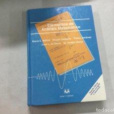 Libros de segunda mano de Ciencias: ELEMENTOS DE ANÁLISIS MATEMÁTICO. Lote 136381920