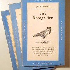 Libros de segunda mano: FISHER, JAMES - BIRD RECOGNITION I, II Y III (3 VOL. - COMPLETO) - LONDON 1947 A 1955 - MUY ILUSTRAD. Lote 133689994