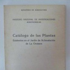 Libros de segunda mano: CATÁLOGO DE LAS PLANTAS EXISTENTES EN JARDÍN DE ACLIMATACIÓN DE LA OROTAVA. PUERTO DE LA CRUZ. TENER. Lote 133816886