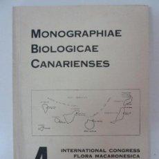 Libros de segunda mano: MONOGRAPHIAE BIOLOGICAE CANARIENSES - 4 INTERNACIONAL CONGRESS FLORA MACARONESICA - LAS PALMAS. Lote 133819842