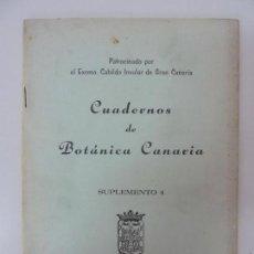 Libros de segunda mano: CUADERNOS DE BOTÁNICA CANARIA. SUPLEMENTO 4. KUNKEL. 1975. Lote 133820746