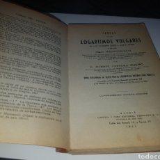 Libros de segunda mano de Ciencias: TABLAS DE LOS LOGARITMOS VULGARES. Lote 133833450