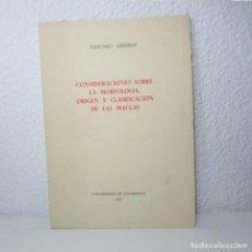 Libros de segunda mano: CONSIDERACIONES SOBRE MORFOLOGÍA ORIGEN Y CLASIFICACIÓN DE LAS MACLAS ANTONIO ARRIBAS 1967 MINERALES. Lote 133951858