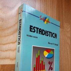 Libros de segunda mano de Ciencias: ESTADÍSTICA (SCHAUM). SEGUNDA EDICIÓN, 1991 / MURRAY R. SPIEGEL. Lote 134092630
