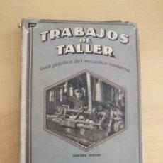 Libros de segunda mano de Ciencias: TRABAJOS DE TALLER - ROSCADO Y CALCULA DE LAS RUEDAS PARA ROSCAR - 1943. Lote 134119470