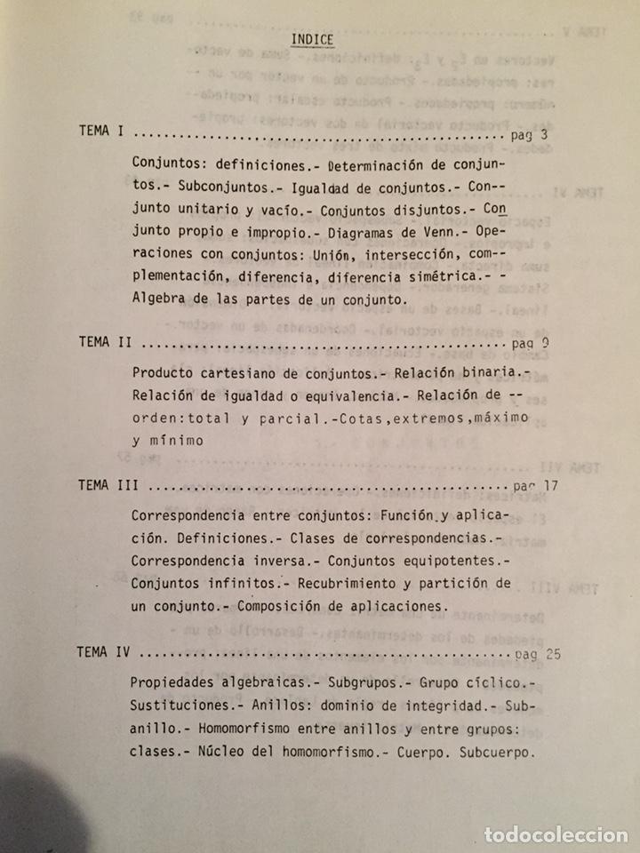 Libros de segunda mano de Ciencias: 1979, MATEMATICAS I (ÁLGEBRA). Luis J. Mateo López. - Foto 2 - 134185130