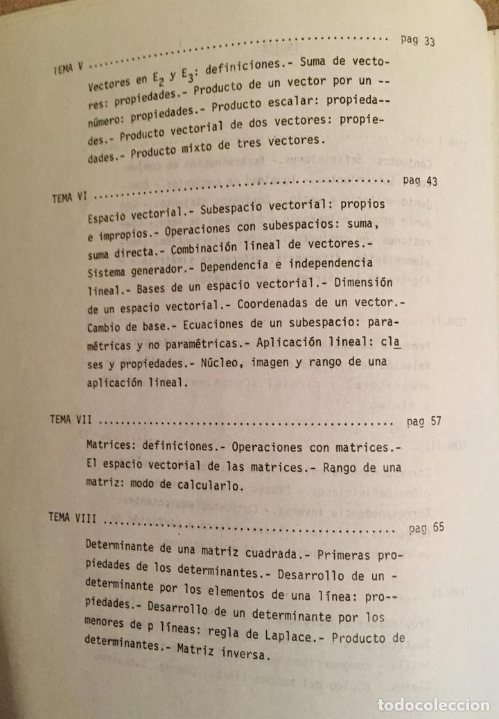 Libros de segunda mano de Ciencias: 1979, MATEMATICAS I (ÁLGEBRA). Luis J. Mateo López. - Foto 3 - 134185130