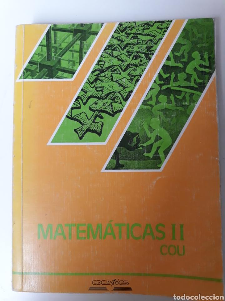 MATEMATICAS COU. ED. EDELVIVES 1988 (Libros de Segunda Mano - Ciencias, Manuales y Oficios - Física, Química y Matemáticas)
