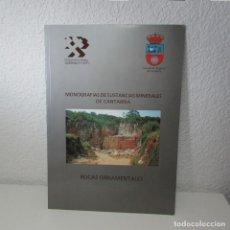 Libros de segunda mano: MONOGRAFÍAS SUSTANCIAS MINERALES CANTABRIA ROCAS ORNAMENTALES INSTITUTO GEOLÓGICO MINERO ESPAÑA. Lote 134773122