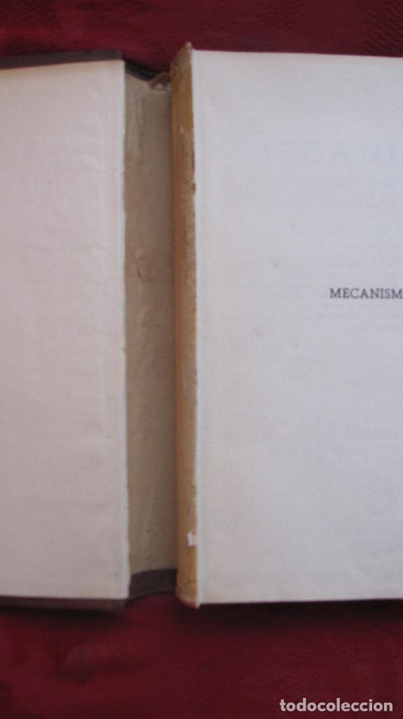 Libros de segunda mano de Ciencias: ED. DOSSAT: MECANISMOS,CALCULO Y CONSTRUCCION.CELSO MAXIMO. 640 PG.2ªED.1954.LOMO ALGO DESPEGADO - Foto 2 - 134780006