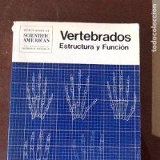 Libros de segunda mano: VERTEBRADOS ESTRUCTURA Y FUNCIÓN. Lote 134815622
