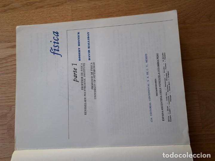 Libros de segunda mano de Ciencias: FÍSICA: PARTE 1 + PARTE 2 / RESNICK - HALLIDAY / CIA. EDITORIAL CONTINENTAL, MÉXICO - Foto 2 - 135021954