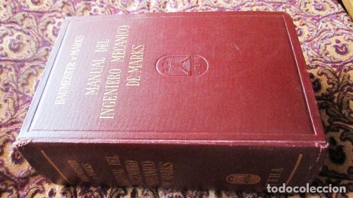 Libros de segunda mano de Ciencias: GRAN VOLUMEN UTEHA: BAUMEISTER Y MARKS. MANUAL DEL INGENIERO MECANICO DE MARKS. **1ª EDIC.**2.597 PA - Foto 2 - 144928914