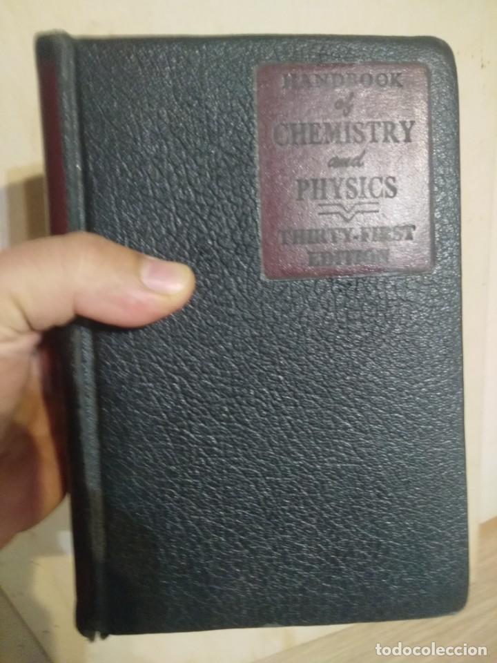 QUIMICA Y FISICA HANDBOOK OF CHEMISTRY AND PHYSICS (Libros de Segunda Mano - Ciencias, Manuales y Oficios - Física, Química y Matemáticas)