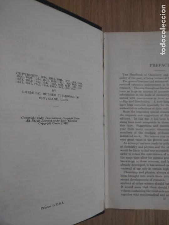 Libros de segunda mano de Ciencias: QUIMICA Y FISICA HANDBOOK OF CHEMISTRY AND PHYSICS - Foto 4 - 135310142