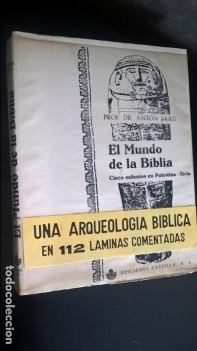 EL MUNDO DE LA BIBLIA, CINCO MILENIOS EN PALESTINA -SIRIA , ANTÓN JIRKU, 112 LAMINAS (Libros de Segunda Mano - Ciencias, Manuales y Oficios - Paleontología y Geología)