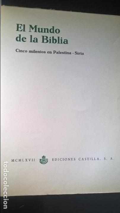 Libros de segunda mano: EL MUNDO DE LA BIBLIA, CINCO MILENIOS EN PALESTINA -SIRIA , ANTÓN JIRKU, 112 LAMINAS - Foto 6 - 135488566