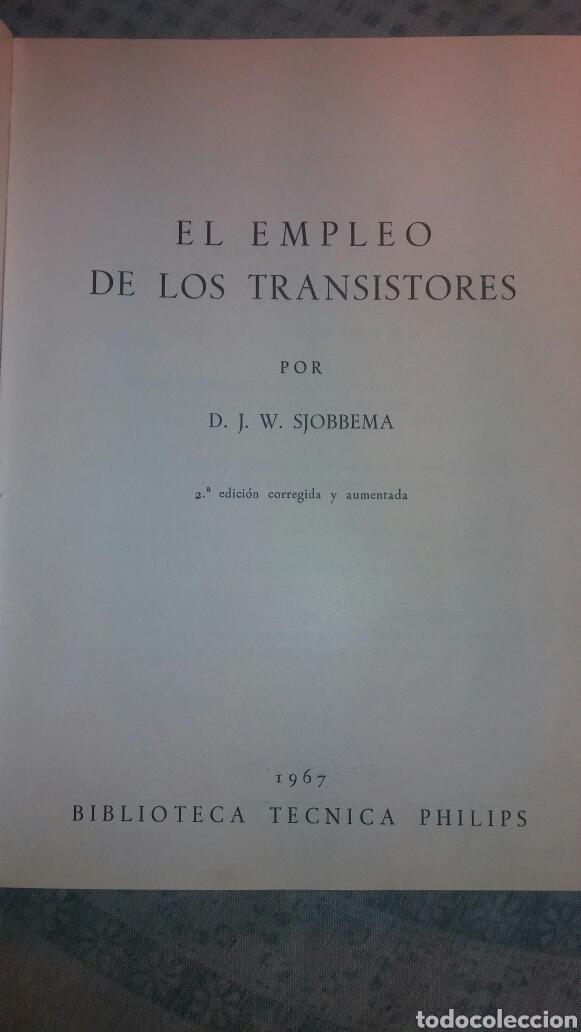 Libros de segunda mano de Ciencias: ANTIGUO LIBRO DE 1967 EL EMPLEO DE LOS TRANSISTORES - Foto 2 - 135511958