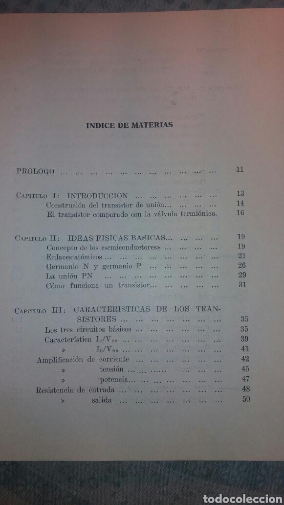 Libros de segunda mano de Ciencias: ANTIGUO LIBRO DE 1967 EL EMPLEO DE LOS TRANSISTORES - Foto 3 - 135511958
