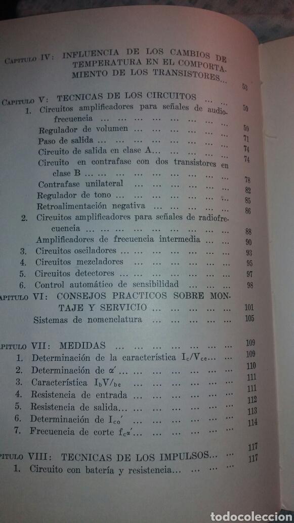 Libros de segunda mano de Ciencias: ANTIGUO LIBRO DE 1967 EL EMPLEO DE LOS TRANSISTORES - Foto 4 - 135511958