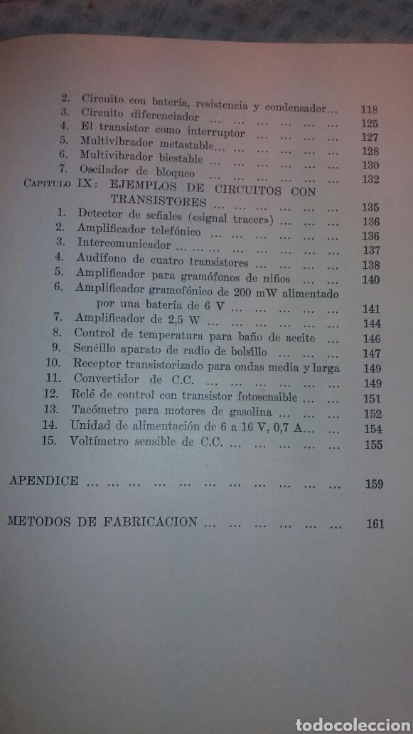 Libros de segunda mano de Ciencias: ANTIGUO LIBRO DE 1967 EL EMPLEO DE LOS TRANSISTORES - Foto 5 - 135511958