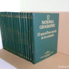 Libros de segunda mano: EL MARAVILLOSO MUNDO DE LOS ANIMALES, ENCICLOPEDIA COMPLETA 17 VOL., NATIONAL GEOGRAPHIC RBA 2000. Lote 207250971