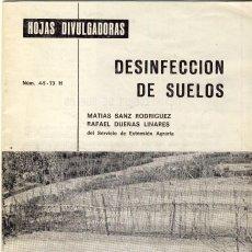 Libros de segunda mano - DESINFECCIÓN DE SUELOS.- MINISTERIO DE AGRICULTURA.- - 135703107