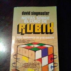 Libros de segunda mano de Ciencias: NOTAS SOBRE EL CUBO DE RUBIK, SINGMASTER. Lote 136156938