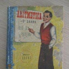 Libros de segunda mano de Ciencias: EDICIONES BRUÑO. ARITMÉTICA. SEGUNDO GRADO. CURSO MEDIO. 20º EDICIÓN. 1958. Lote 136504438