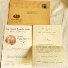 Libros de segunda mano: INVITACIÓN - SEGUNDA EXPOSICIÓN REGIONAL DE LA PALOMA MENSAJERA EN CANARIAS - R.F.C.E. 1962. Lote 137554862
