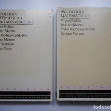 Libros de segunda mano de Ciencias: VV.AA PSICOLOGÍA MATEMÁTICA I(EN DOS TOMOS) Y90777. Lote 138190386