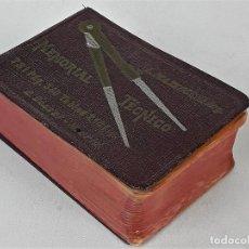 Libros de segunda mano de Ciencias: MEMORIAL TÉCNICO. L. MAZZOCCHI. E. DOSSAT. MADRID. S/F.. Lote 139048346