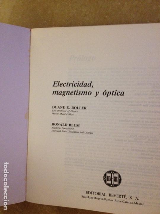 Libros de segunda mano de Ciencias: Física Volumen 2 (Tomo I + Tomo II) Electricidad, magnetismo y óptica (Roller / Blum) - Foto 2 - 162805414