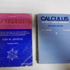Libros de segunda mano de Ciencias: LIBRO-CALCULUS DE UNA Y VARIAS VARIABLES 1-2ªEDICIÓN-S,L,SALAS+E,HILLE-1982-ED.REVERTÉ-EXCELENTE. Lote 120466351