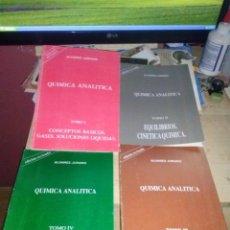 Libros de segunda mano de Ciencias: LOTE DE 4 EJEMPLARES DE QUIMICA ANALITICA DE ALVAREZ JURADO EDICION REVISADA. Lote 139204534