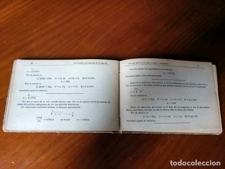 Libros de segunda mano de Ciencias: M. F. Toral PRACTICAS CON LA REGLA DE CALCULO TOMO IV (SISTEMA DARMSTADT) - 1944 - SLIDE RULE RECHEN - Foto 6 - 139482474