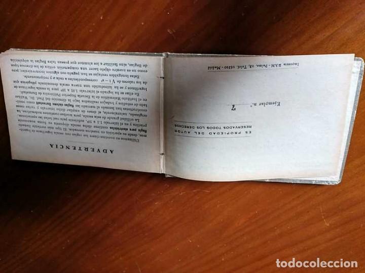 Libros de segunda mano de Ciencias: M. F. Toral PRACTICAS CON LA REGLA DE CALCULO TOMO IV (SISTEMA DARMSTADT) - 1944 - SLIDE RULE RECHEN - Foto 7 - 139482474