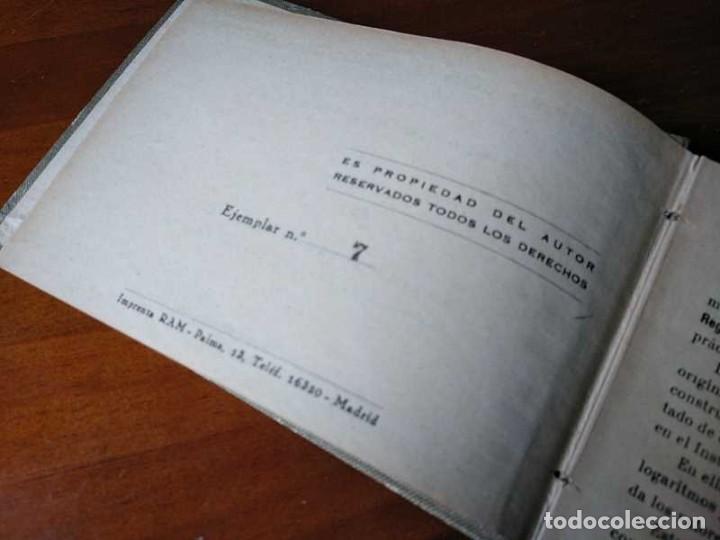 Libros de segunda mano de Ciencias: M. F. Toral PRACTICAS CON LA REGLA DE CALCULO TOMO IV (SISTEMA DARMSTADT) - 1944 - SLIDE RULE RECHEN - Foto 8 - 139482474