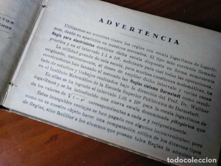 Libros de segunda mano de Ciencias: M. F. Toral PRACTICAS CON LA REGLA DE CALCULO TOMO IV (SISTEMA DARMSTADT) - 1944 - SLIDE RULE RECHEN - Foto 9 - 139482474