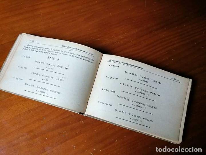 Libros de segunda mano de Ciencias: M. F. Toral PRACTICAS CON LA REGLA DE CALCULO TOMO IV (SISTEMA DARMSTADT) - 1944 - SLIDE RULE RECHEN - Foto 13 - 139482474